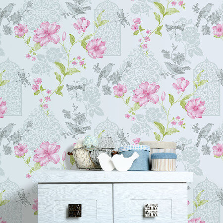 Birds and Butterflies Wallpaper