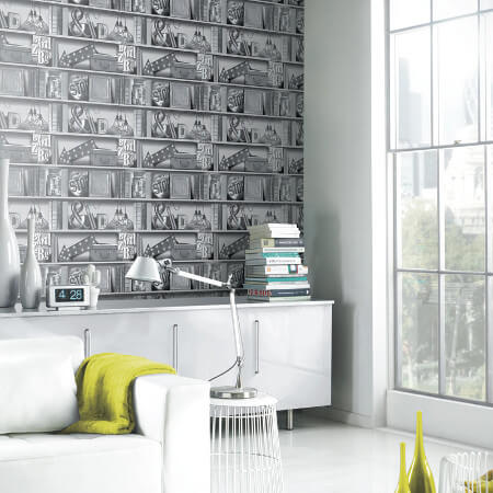 Bookcase & Library Wallpaper