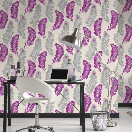 Feather and  Fern Wallpaper Collection