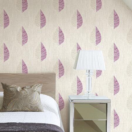 Scandi Leaf Wallpaper Collection