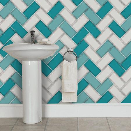 Chevron Tile Wallpaper Collection