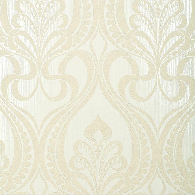 Grandeco Art Nouveau Damask Gold Glitter Wallpaper - 113003