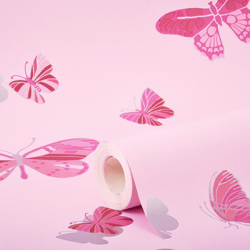 Debona Butterfly Pink Wallpaper - 20001