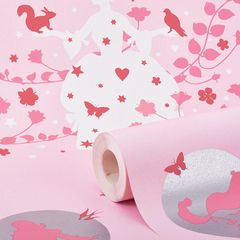 Debona Princess Fairies Pink Wallpaper - 20005