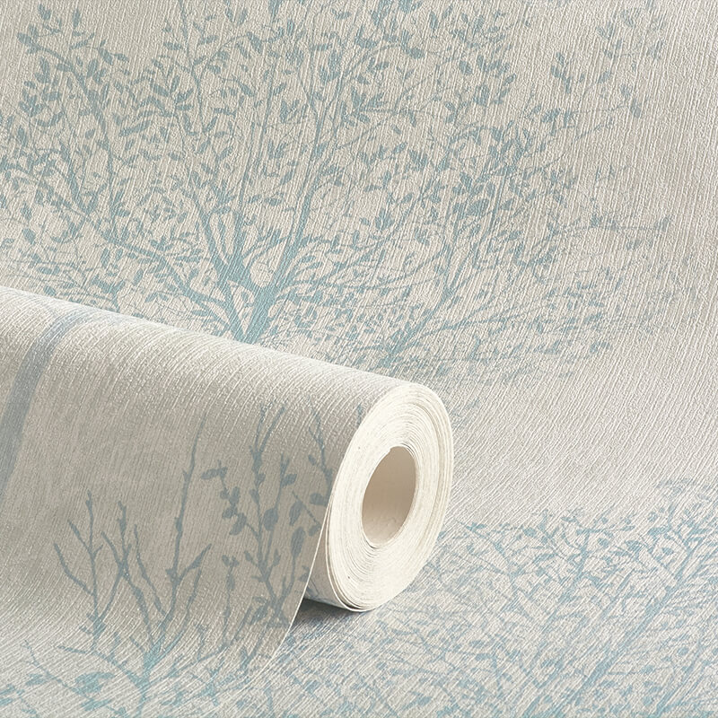 Arthouse Wonderland Tree Duck Egg Glitter Wallpaper - 256700