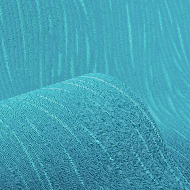 AS Creation Lotus Plain Teal/Silver Glitter Wallpaper - 3073-16