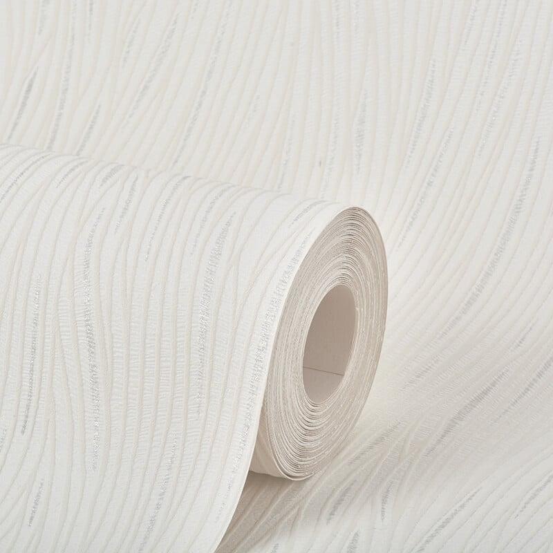 AS Creation Lotus Plain White/Silver Glitter Wallpaper - 3073-54