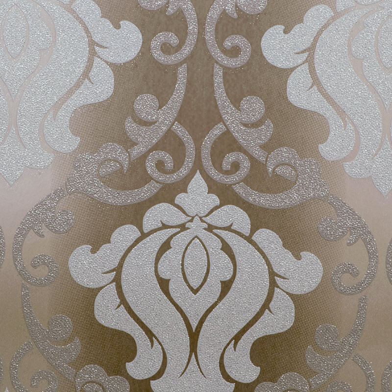AS Creation Omega Damask Chocolate Glitter Wallpaper - 34860-3