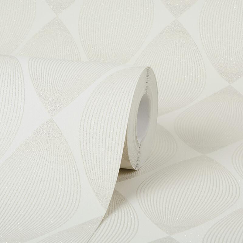 AS Creation Retro Leaf Cream Glitter Wallpaper - 35714-1