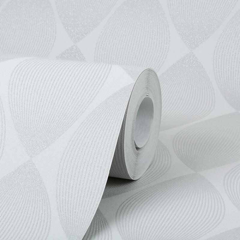 AS Creation Retro Leaf Grey Glitter Wallpaper - 35714-2