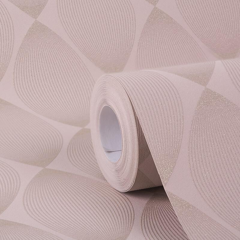 AS Creation Retro Leaf Blush Glitter Wallpaper - 35714-3