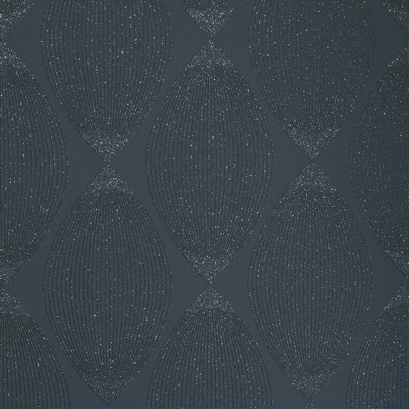 AS Creation Retro Leaf Black Glitter Wallpaper - 35714-4