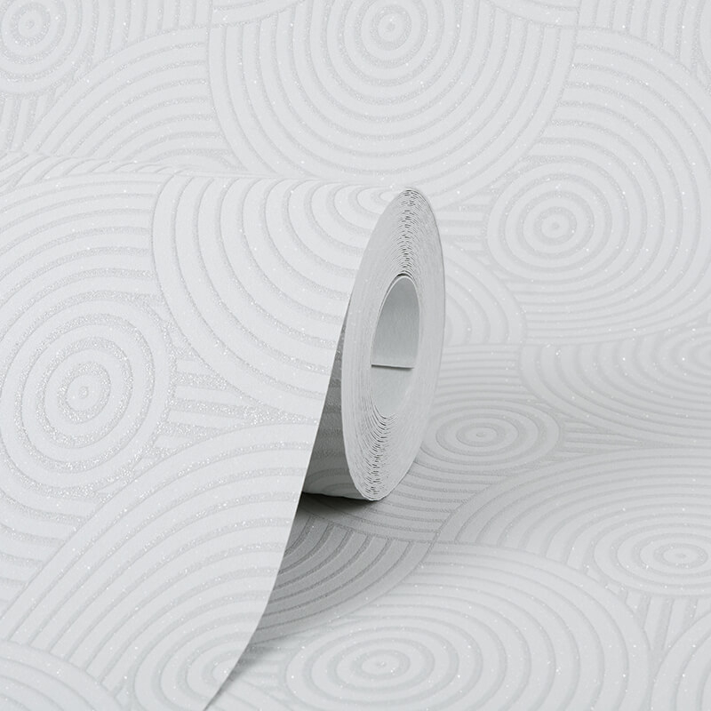 AS Creation Swirl Grey Glitter Wallpaper - 35715-2