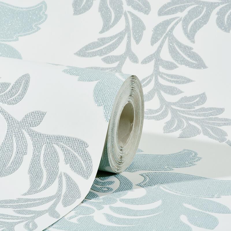 Teal grey wallpaper