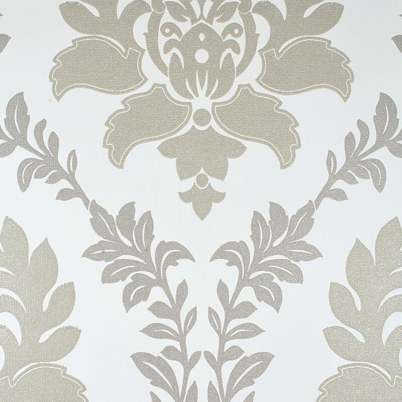 Erismann Damask Taupe/Cream Glitter Wallpaper - 4628-11