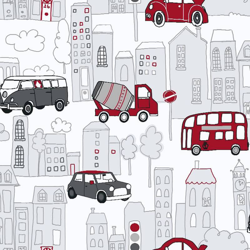 Arthouse Motor Mania Opera Fun Wallpaper in Red and Black - 533502