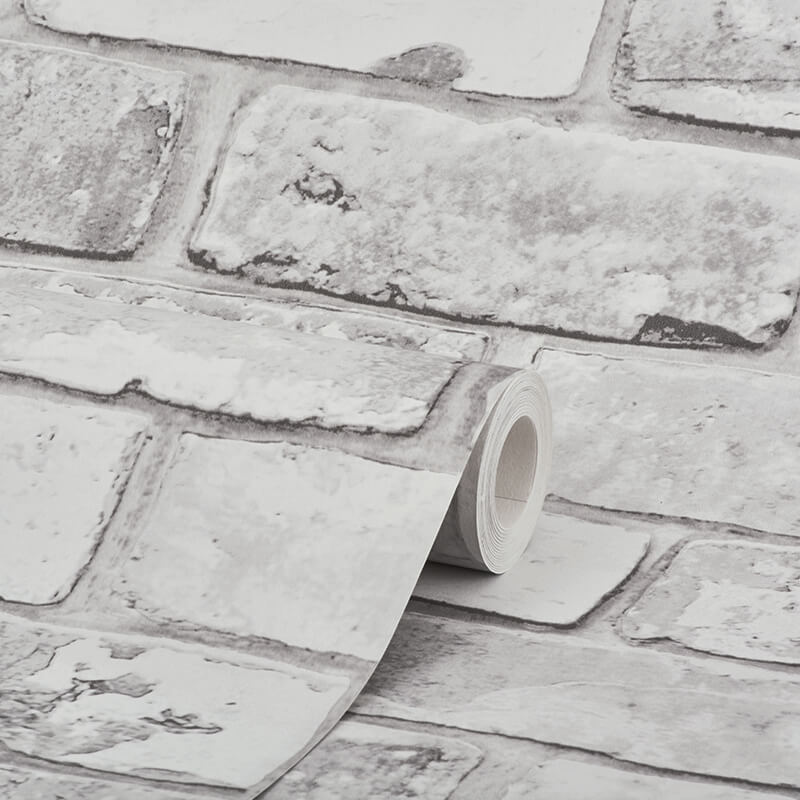 Debona Rustic Brick White Wallpaper