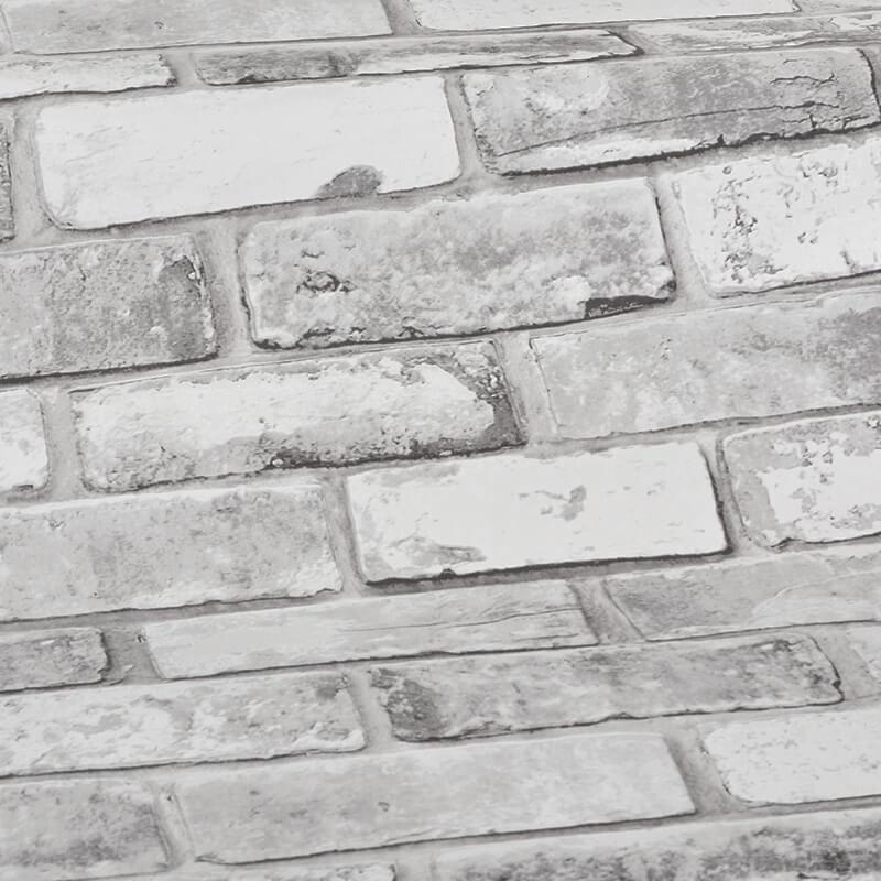 Debona Rustic Brick White Wallpaper - 6751