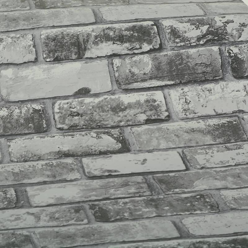 Debona Rustic Brick Slate Grey Wallpaper - 6753