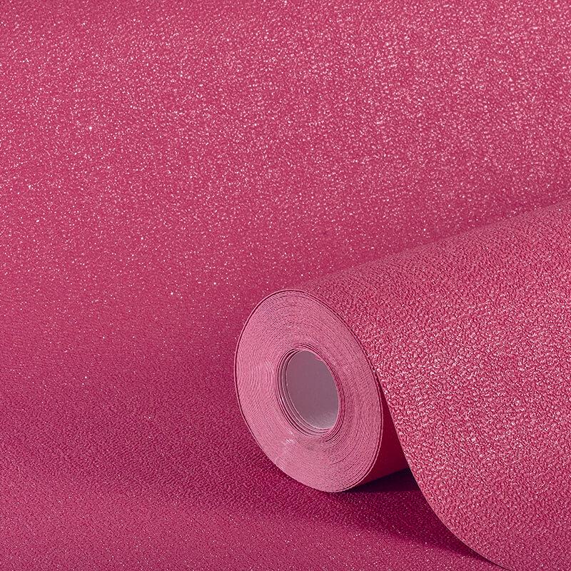Arthouse Plain Fuchsia Pink Glitter Wallpaper - 892106