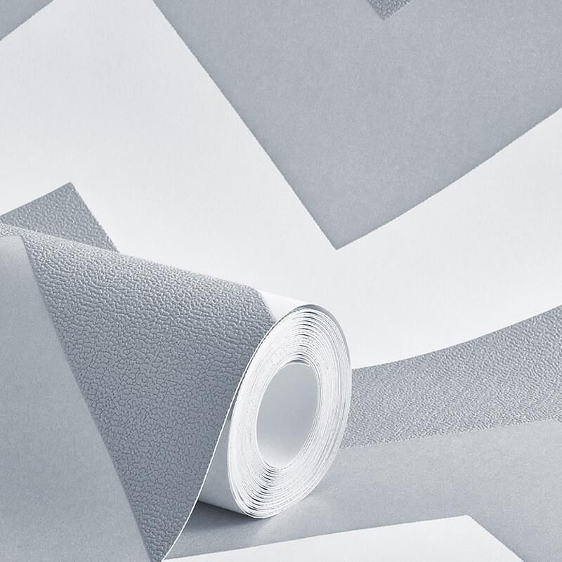 Arthouse Chevron Platinum Glitter Wallpaper - 892302