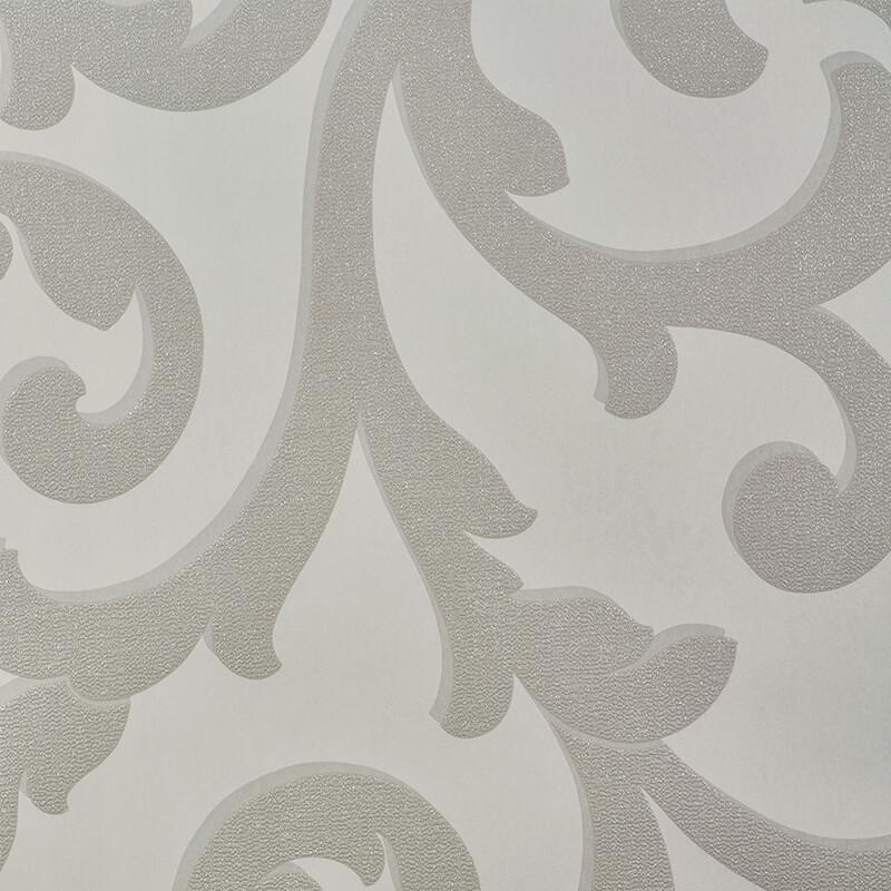 Arthouse Scroll Mink Glitter Wallpaper - 892401