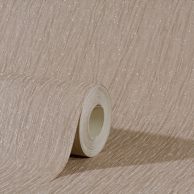 Debona Crystal Plain Taupe Glitter Wallpaper - 9007