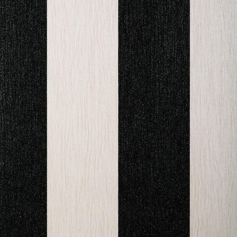 Debona Crystal Stripe Black/Ivory Glitter Wallpaper - 9011