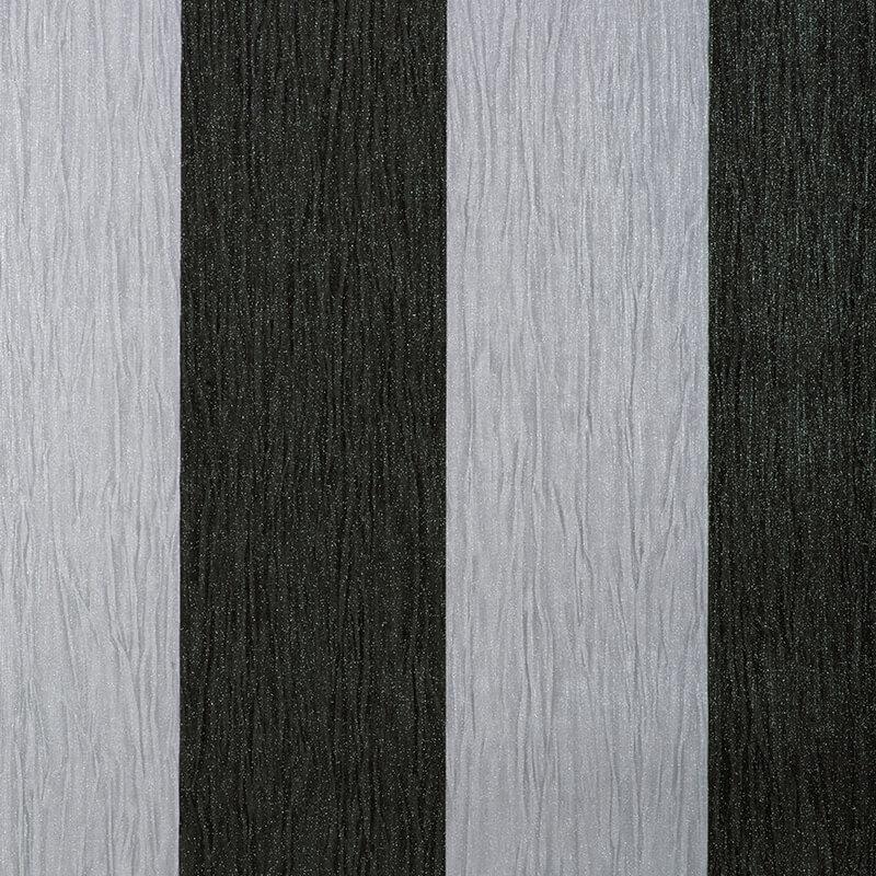 Debona Crystal Stripe Black/Silver Glitter Wallpaper - 9012