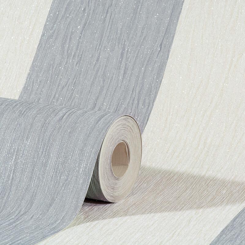 Debona Crystal Stripe Silver/Ivory Glitter Wallpaper - 9013