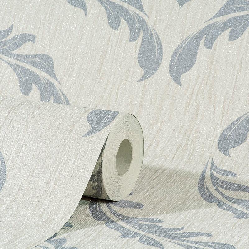 Debona Crystal Damask Ivory/Silver Glitter Wallpaper - 9031