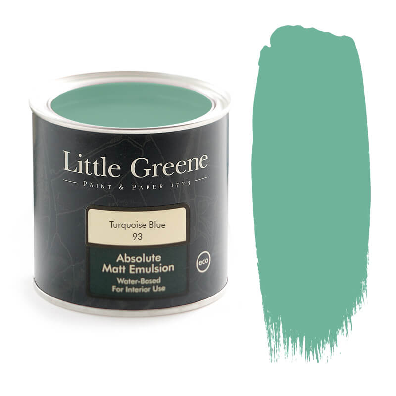 Little Greene Paint in Turquoise Blue