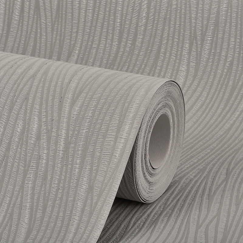 AS Creation Lotus Plain Grey/Silver Glitter Wallpaper - 9495-47