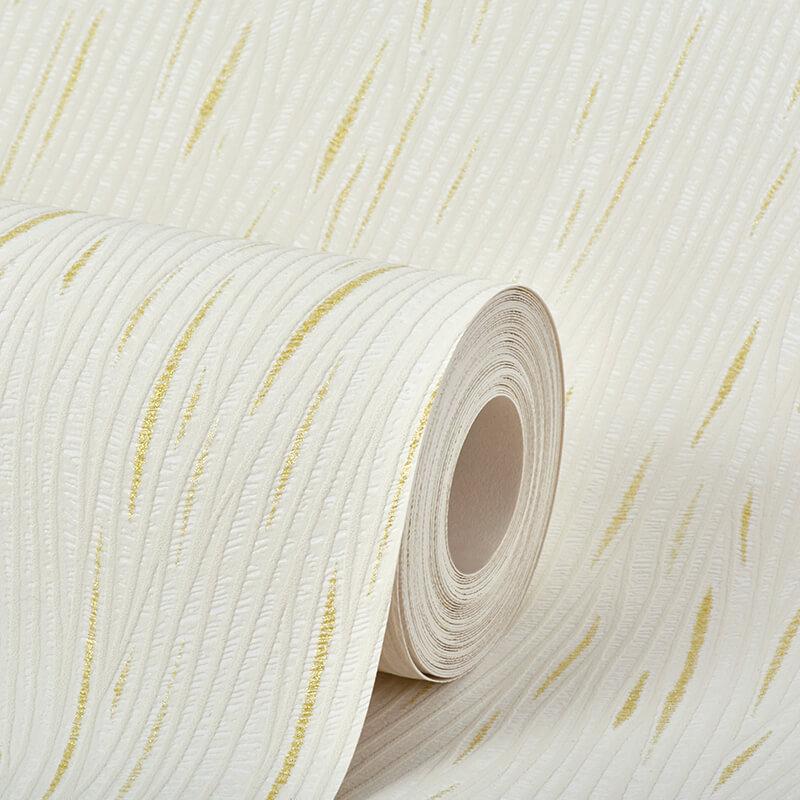 AS Creation Lotus Plain Cream/Gold Glitter Wallpaper - 9495-61