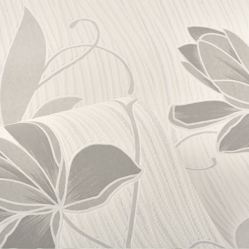 AS Creation Lotus Floral Grey Glitter Wallpaper - 9496-39
