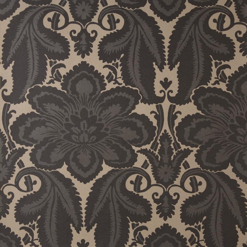 Little Greene Albemarle St  Wallpaper in Charcoal