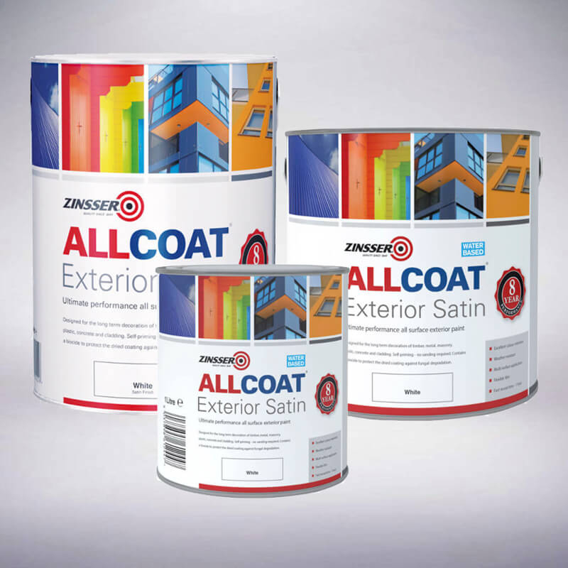 Zinsser Allcoat Exterior Satin White (Water Based)