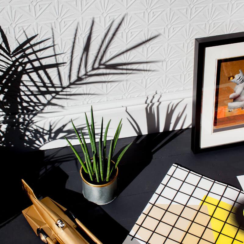 anaglypta textured vinyl wallpaper deco paradiso rd576. Black Bedroom Furniture Sets. Home Design Ideas