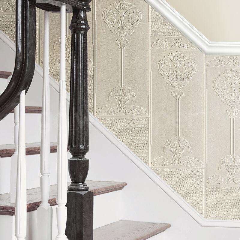 Dado panels baroque wallpaper rd06671 for Panel wallpaper