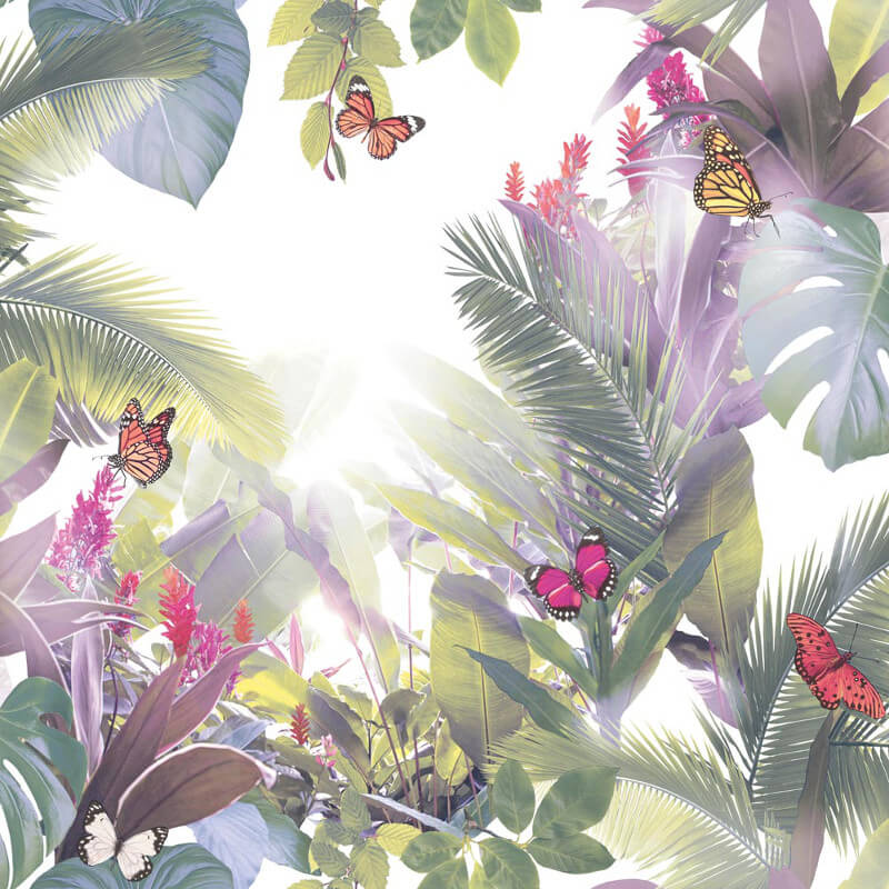 Arthouse Amazonia Tropical Leaf Lavender Wallpaper - 690301