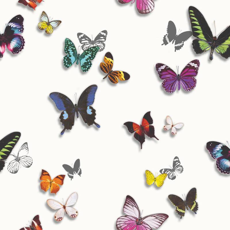Arthouse Bahia Butterfly White Wallpaper - 690401