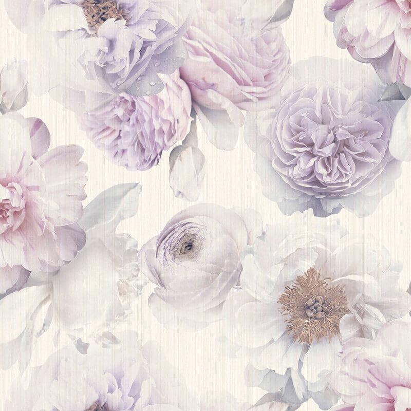 Arthouse Bloom Floral Lavender Glitter Wallpaper - 257003