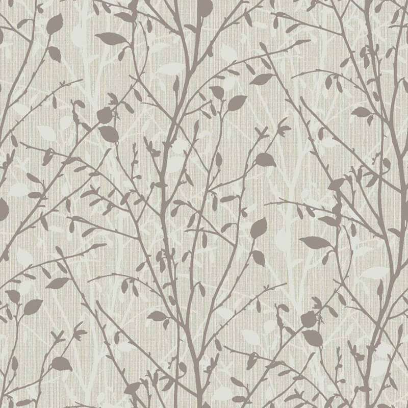 Arthouse Bosco Leaf Charcoal Glitter Wallpaper - 291500