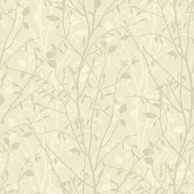 Arthouse Bosco Leaf Cream/Gold Glitter Wallpaper - 291501