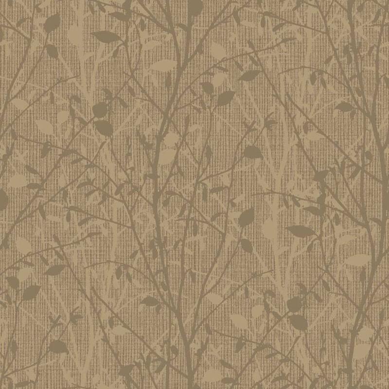 Arthouse Bosco Leaf Gold Glitter Wallpaper - 291502