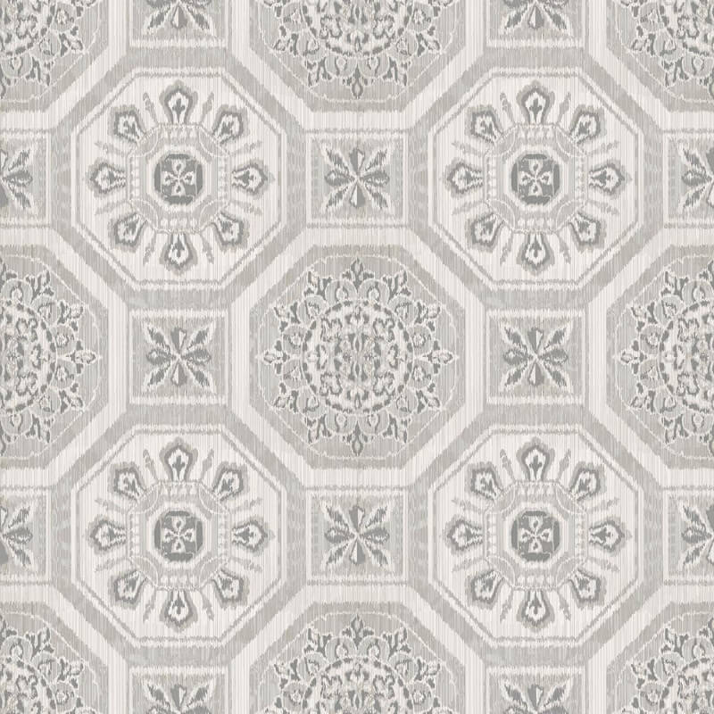 Arthouse Brasillia Geometric Tile Grey Wallpaper - 690501