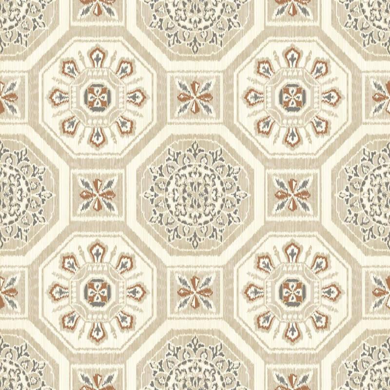 Arthouse Brasillia Geometric Tile Natural Wallpaper - 690502