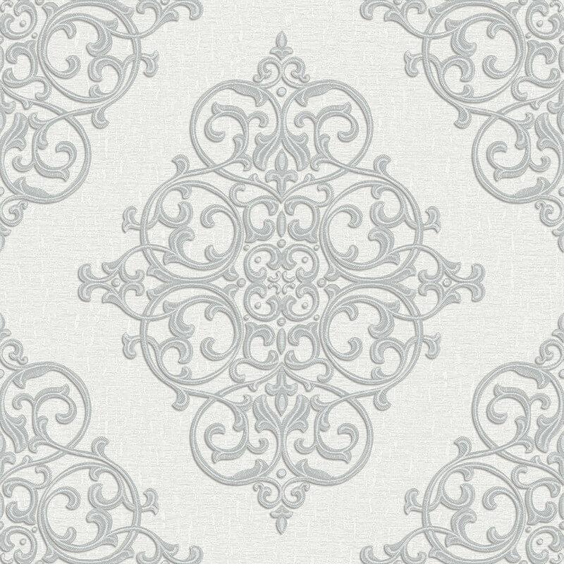 Arthouse Cardinale Silver Glitter Wallpaper - 292301