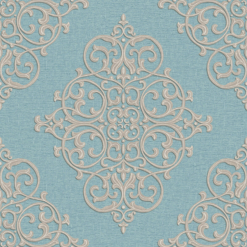 Arthouse Cardinale Teal Glitter Wallpaper - 292302