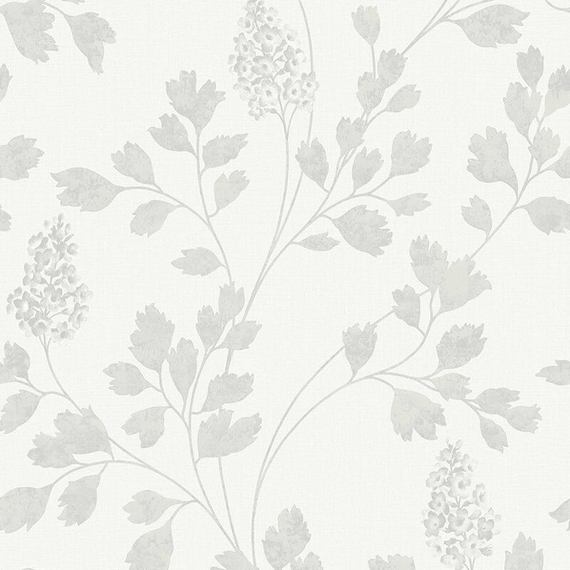 Arthouse Catalina Silver Leaf Glitter Wallpaper - 292501